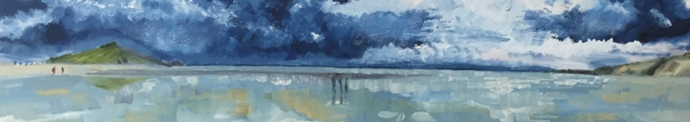 Blue Lagoon on Cold Day by artist Jo Holdsworth