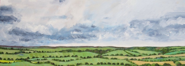 Clouds over Hampshire Hills by artist Jo Holdsworth