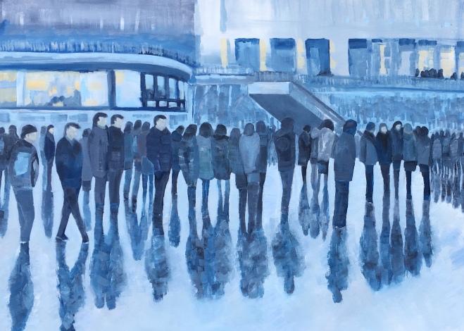 London Evening Crowd by artist Jo Holdsworth