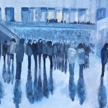 London Evening Crowd by artist Jo Holdsworth