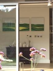 Hampshire Hills triptych by artist Jo Holdsworth - Merton Arts Festival September 2017