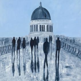 Jo Holdsworth - Bridge The Gap - Oil on canvas 80 x 80 cm