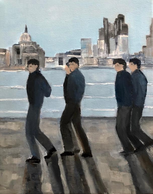 Jo Holdsworth - Good morning London - Oil on canvas 25 x 30 cm
