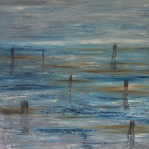 Jo Holdsworth - Into the Blue - Oil on canvas 100 x 100 cm