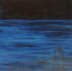 Jo Holdsworth - Low Tide Blues - Oil on canvas 100 x 100 cm