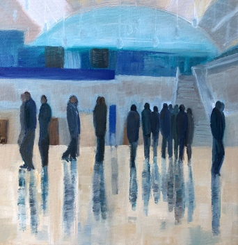 Jo Holdsworth - Meet Me Here - Oil on canvas 30 x 30 cm