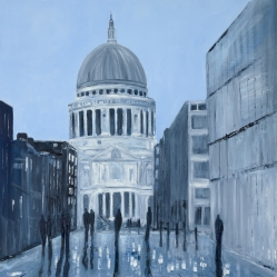 Jo Holdsworth - Moonlit Dome - Oil on canvas 70 x 70 cm