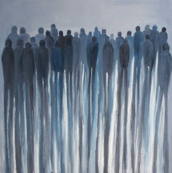 Jo Holdsworth - No Looking Back - Oil on canvas 60 x 60 cm