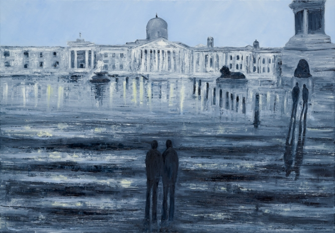 Jo Holdsworth - Square Reflections - Oil on canvas 100 x 70 cm