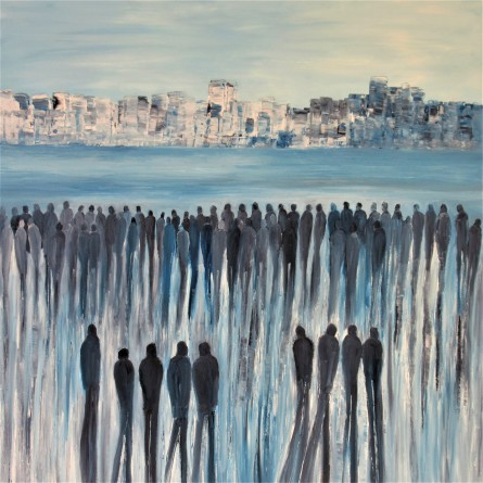 Jo Holdsworth - The Other Side - Oil on canvas 80 x 80 cm